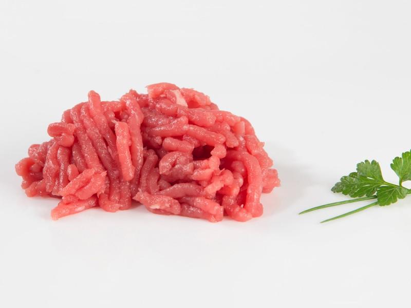 Carne picada de tenreira raza rubia autóctona de Galicia