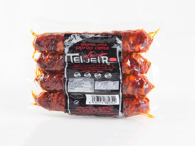 Chorizo cerdo celta bolsa 4 unidades
