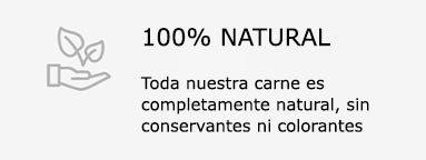 100% natural, sin conservantes ni colorantes